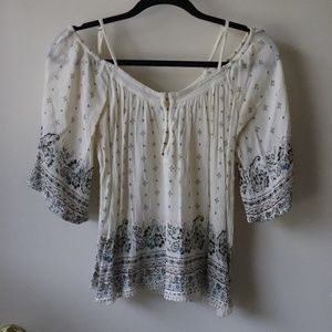 Forever 21 SM Blouse - off the shoulder w/ straps